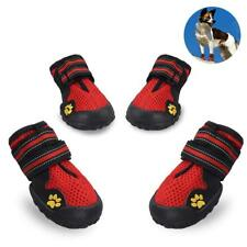 Dog Boots for Summer Waterproof Pet Mesh Shoes Breathable Dog Rubber Shoes Paw