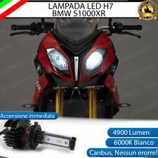LAMPADA LED H7 6000K 4900 LUMEN CANBUS BMW S1000XR ABBAGLIANTE MOTO NO AVARIA