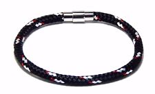 Nautical Rope Bracelet  Stainless Steel Magnetic Clasp Men Women  Hand Made USA
