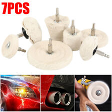 7 Packs Polishing Buffing Drill Pad Mop Wheel Manifold Aluminum Steel Us Seller