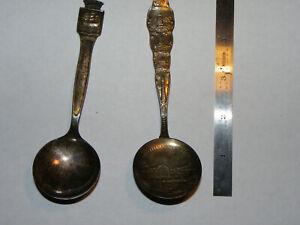 Norway Silverplate Souvenir Spoon Norge Frognerseteren Oslo - Arendal