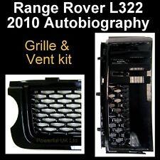 All Black Griglia stile Autobiografia + VENT KIT RANGE ROVER L322 2010+ SANTORINI