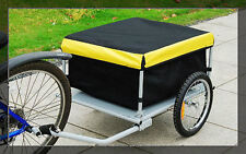 BICYCLE BIKE CARGO TRAILER CARRIER YELLOW BLACK UTILITY CART FREE SHIPPING