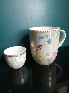 Pip Home Studio Hummingbird Mug And Eggcup: Floral Porcelain from Amsterdam.