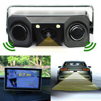 3 in1^Car Parking Reversing Radar Sensors Rear View Backup 170° Camera asC pwL'.