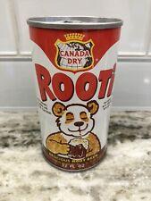 Vintage Canada Dry Rooti Root Beer Soda Pop Can Steel Tab Top 12 Oz Clean!