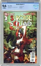 Suicide Squad 1 CBCS 9.6 NM + Harley Quinn DC 2011 1st Voltaic app - CGC