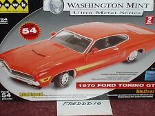 HAWK/WASHINGTON MINT 1970 FORD TORINO GT ORANGE/RED MODEL KIT 1/24 SKILL 2