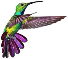 Multi-colored HUMMINGBIRD Flying  - Sun Catcher Window Cling Decal Sticker - NEW