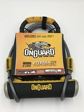 OnGuard Pitbull 8005 U-lock DT with Cable and Bracket, Black/Yellow, Bike