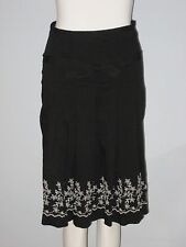 DELLA SPIGA Weekend Size 2 Embroidered Boho Pleated Skirt