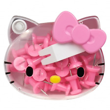 Hello Kitty Pins Thumb Tacks Push Pins Office Thumbtack 30P - Pink