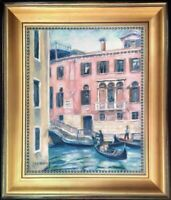 Venice Architecture Signed Impressionist Original Oil Painting Canvas Framed Art