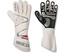 SPARCO Flecha-K White guantes de carreras-Tamaño Pequeño/9 Go Kart Karting Carrera