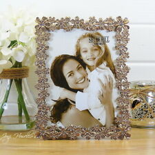 Gold Daisy Diamante Photo Picture Frame 5 x 7 Photograph Floral Home Decor Gift