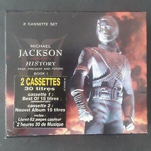 MICHAEL JACKSON  * HISTORY * COFFRET 2 K7 TAPES + LIVRET * EPIC 1995