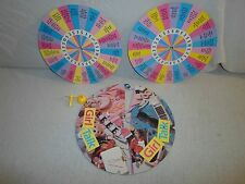 *For Replacement Parts Only* 1988 Girl Talk **Spinner & 2 Disk Lot** Board Game