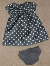Carters Gray white Polka dot baby girls Dress Infant Size 6 Months