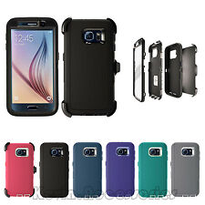 Galaxy S6 Case | For S6 Defender Case Cover Belt Clip Built-in Screen Protector