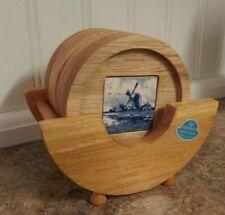 Bosman Delft's Blauw Holland Coaster Set