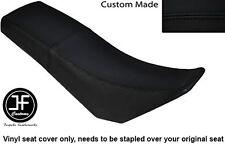 BLACK AUTOMOTIVE VINYL CUSTOM FITS DERBI SENDA BAJA 125 DUAL SEAT COVER ONLY