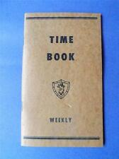 WEEKLY TIME BOOK VINTAGE WAGE CALCULATOR TIME SHEETS BOOKLET