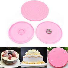 Plastic Revolving Rotating Cake Decorating Stand Swivel Plate Turntable KY