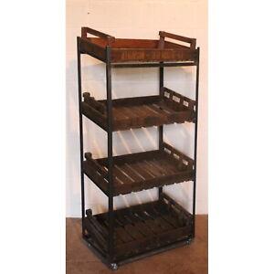 Large Vintage Rustic Bakers Rack Shop Display Stand Storage Rack Kitchen Stand