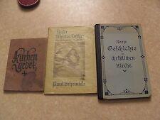 Konvolut: 3 ältere religiöse Bücher/Broschüren 1921,1930,1933 Jahr