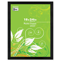 Dax Black Solid Wood Poster Frames w/Plastic Window Wide Profile 18 x 24 2863W2X