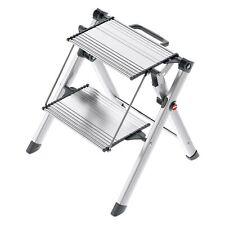 Hailo Mini Comfort 2 XXL-Alu-Stufen Klapptritt Trittleiter Leiter Aluminium