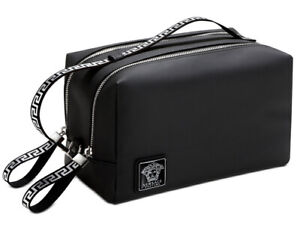 Versace Black Toiletry Bag Trousse Travel Gym Cosmetic New 2021 With Dust Bag