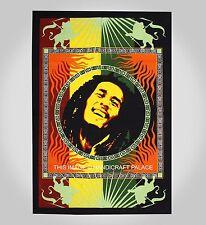 Nouvelle Affiche Coton Textile Bob Marley / Mur De Drapeau Accroché Tapisserie