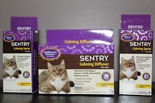 New Lot of 3: 1 Sentry Calming Diffuser for Cats 1.5-Ounce & Two 1 oz Refills