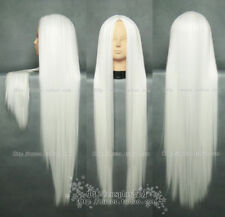 New Long white Cosplay Party Straight Wig 100cm