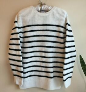 EUC Janie & Jack size 7 Boy Black & White Striped Sweater Top