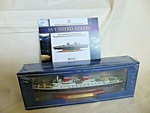 Atlas Edition SS UNITED STATES Diecast Model Ship 1:1250 Scale 2017 Boxed SEALED