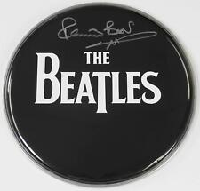 "Pete Best THE BEATLES Signed Autograph 12"" Drum Head Drumhead"