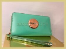 Mimco LARGE MIM ZIP WALLET CLUCTH PURSE BNWT RRP$249 SEAFOAM Rosegold