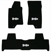 LLOYD MATS Classic Loop™ 3pc FLOOR MAT SET; 2006-2010 Hummer H3 with Silver Logo