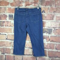 Riders By Lee Womens Mid Rise Capri Denim Size 12 Cropped Jeans