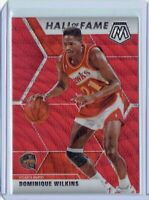 2019-20 Panini Mosaic Tmall Dominique Wilkins Hall of Fame Red Wave Prizm Hawks