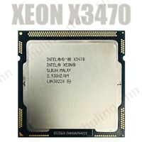 3PCS Intel Xeon X3470 2.933 GHz Quad-Core CPU Processor 95W 8M LGA 1156 used CPU