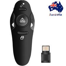 2.4GHz Wireless Presenter Remote Control  Power Point PPT Pointer Clicker Black