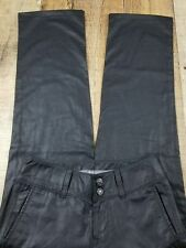 7 for all mankind Wax Coated Black Straight Leg Mid Rise, Size 26x26