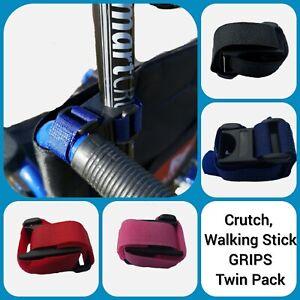 Walking Stick & Crutch Holder, Grip for Wheelchair, Rollator, Walking Frame, x2