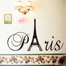 New France Paris Eiffel Tower Wall Sticker Vinyl Decal Mural Home Room Decor