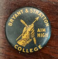 Vintage Bryant and Stratton College Pinback Button