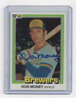 1981 BREWERS Don Money signed card Donruss #443 AUTO Autographed Milwaukee