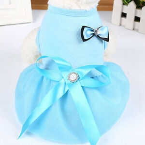 Solid Thin Section Dog Dress Puppy Cloth Pet Dress Dog Skirt Cool Dog Accessory